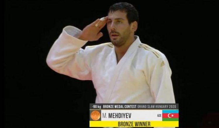 Azərbaycan cüdoçuları Macarıstanda 1 qızıl, 2 bürünc medal qazanıblar