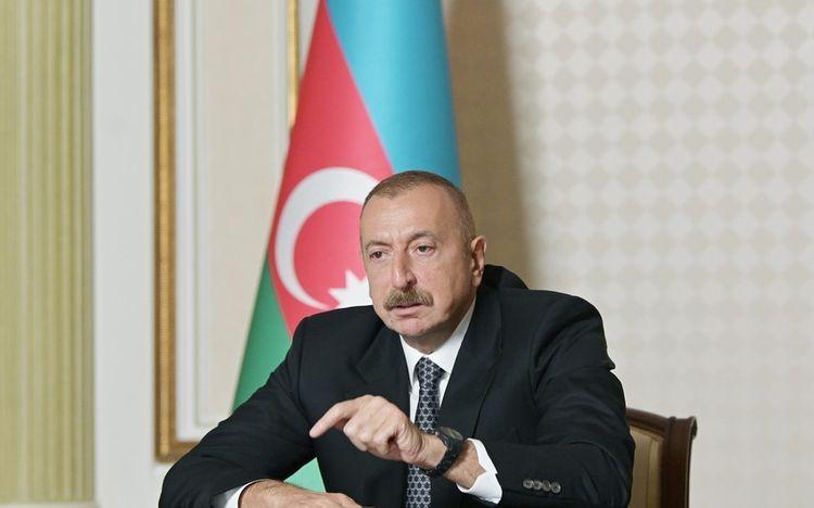 Ильхам Алиев: Я дал поручение, чтобы во всех освобожденных от оккупации регионах была проведена инспекция, Армянское государство ответит за военные преступления