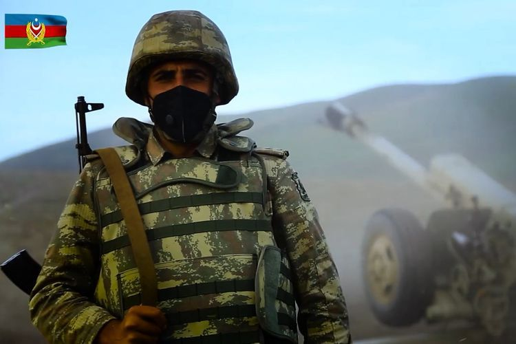 """Azerbaijani soldier: """"Let us defend you from enemy, while you defend each of us by wearing mask!"""" - VIDEO"""