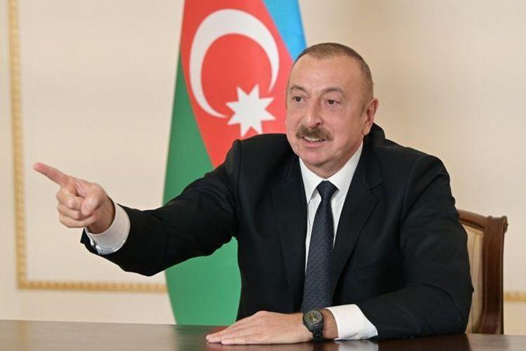 """Prezident İlham Əliyev: """"Düşmən bizim qabağımızdan qaçır və qaçacaq, çünki biz haqlıyıq, biz güclüyük"""""""