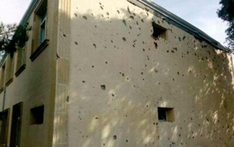 Armenian armed forces fire on school building in Azerbaijan's Agdam