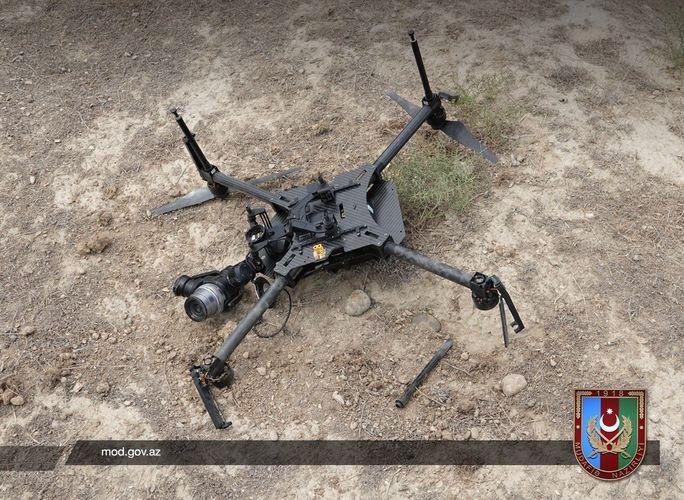Azerbaijani MoD: Enemy quadrocopter was destroyed - PHOTO