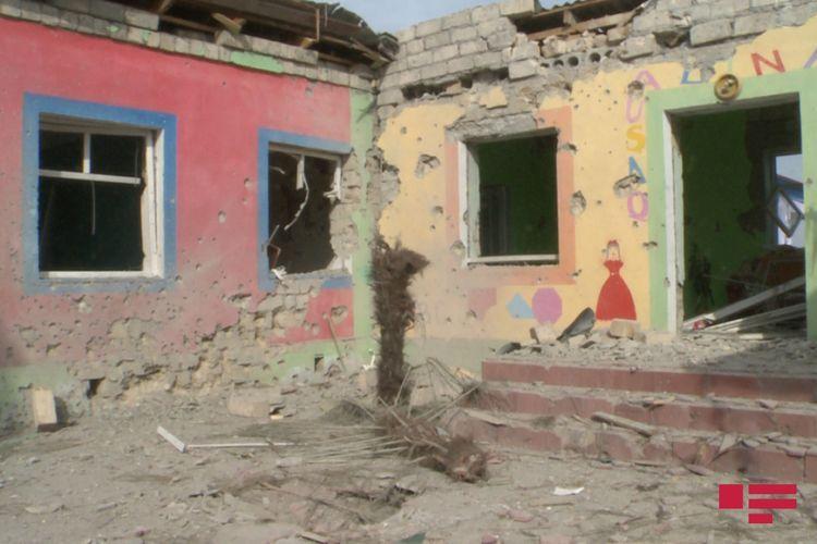 Armenians violating ceasefire shells kindergarten with artillery fire in Agdam district - PHOTO