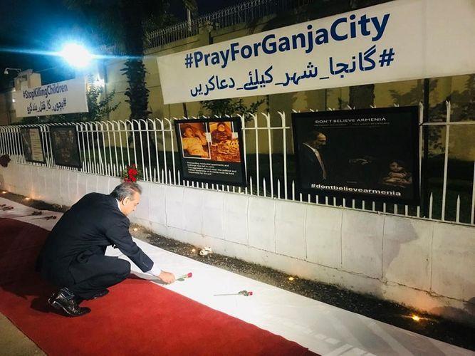 В Пакистане в анклаве, где находятся посольства зарубежных стран, создан уголок в связи с последствиями армянского террора - ВИДЕО - ФОТО