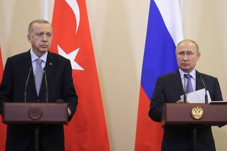 Эрдоган и Путин обсудили последние события в зоне карабахского конфликта