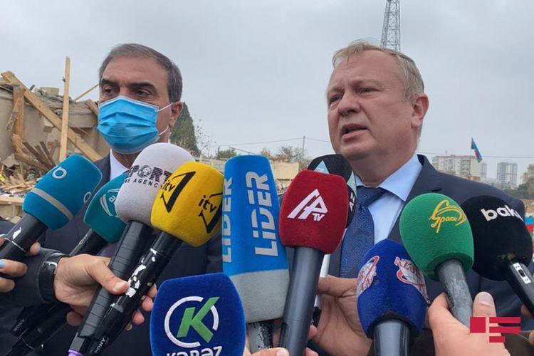 Посол Беларуси: Увиденное в Гяндже потрясло меня, выпускать ракеты по спящему городу в XXI веке недопустимо