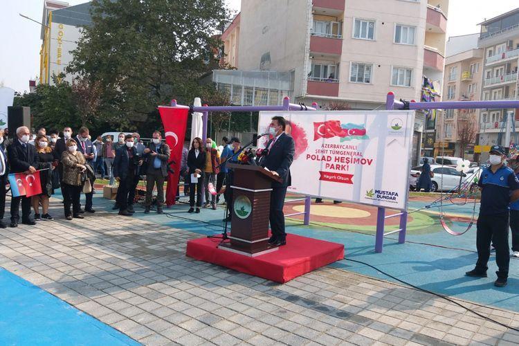 В Турции состоялось открытие парка имени шехида генерала Полада Гашимова