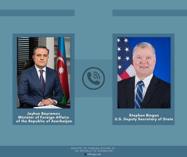 Azerbaijani FM holds phone conversation with Deputy Secretary of State of USA