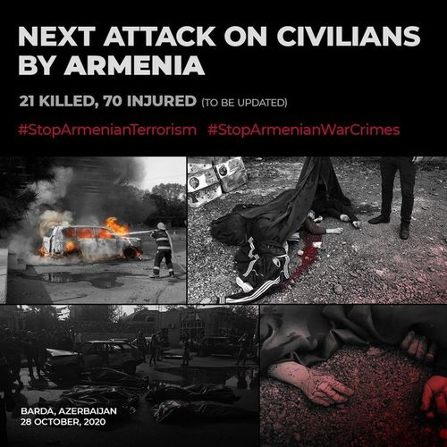 """First Vice President of Azerbijan: """"Attack on civilian population of Azerbaijan proves the total moral degradation of insane military and political leadership of Armenia"""""""