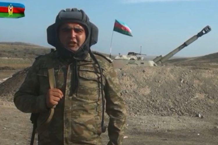 """Artilleriya komandiri: """"Müqəddəs mübarizəmizi qələbə ilə yekunlaşdıracağıq"""" - VİDEO"""