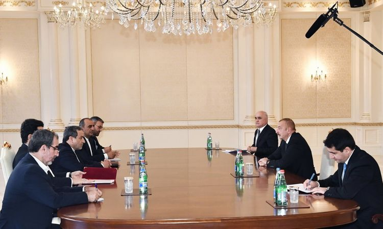 President Ilham Aliyev received delegation led by Special Envoy of Iranian President - UPDATED