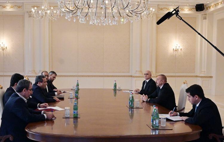Президент Ильхам Алиев принял делегацию во главе со специальным представителем президента Ирана