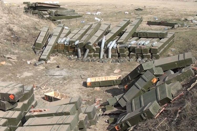 Боеприпасы, бронированная и автомобильная техника, оставленные противником на поле боя при бегстве - ВИДЕО