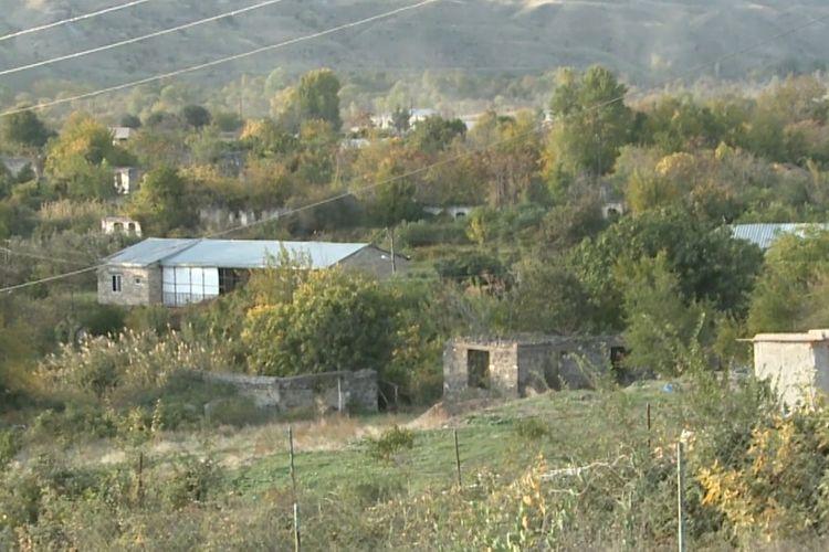 Video footage of liberated from the occupation Giyasli and Sariyatag villages of Gubadli region - VIDEO