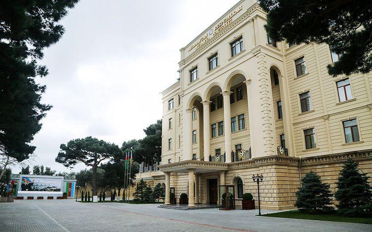 Минобороны опровергло информацию о том, что Азербайджанская армия якобы подвергла минометному обстрелу пограничную заставу в Армении