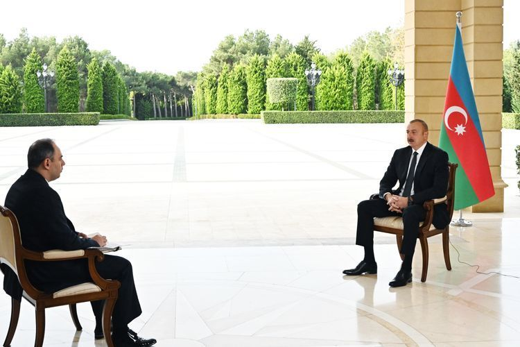 """Azerbaijani President:  """"I think it is premature to speak about peacekeepers in conflict zone"""""""
