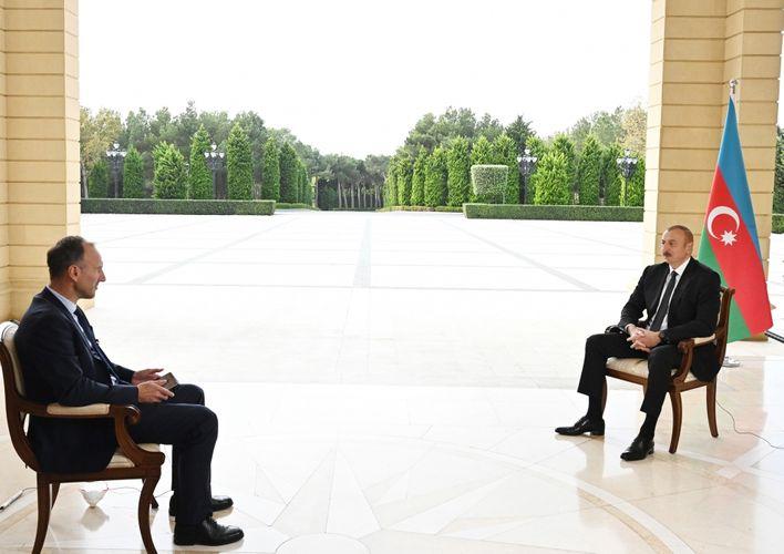 Prezident İlham Əliyev Almaniyanın ARD televiziya kanalına müsahibə verib