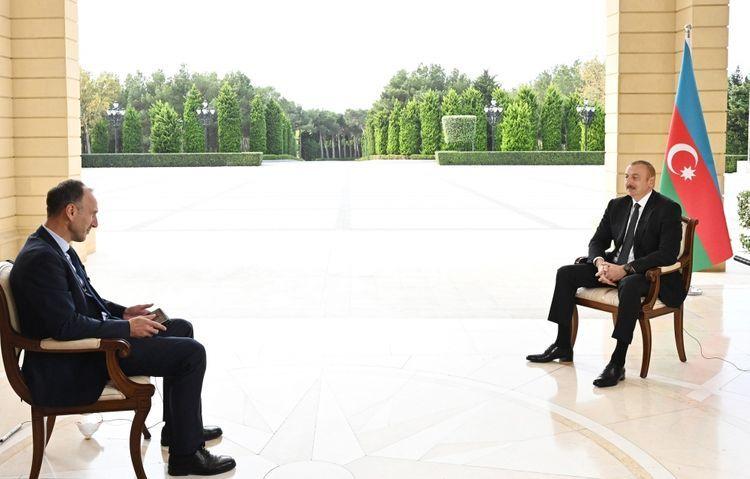 President Ilham Aliyev was interviewed by German ARD TV channel - UPDATED