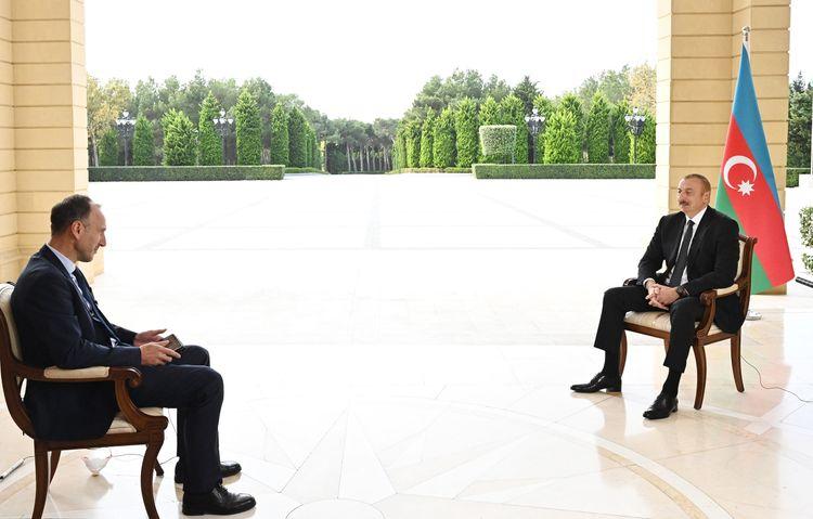 """Prezident: """"Əfsuslar olsun ki, """"Amnesty International"""" və """"Human Rights Watch"""" hadisələri yalnız Ermənistan tərəfindən işıqlandırır"""""""