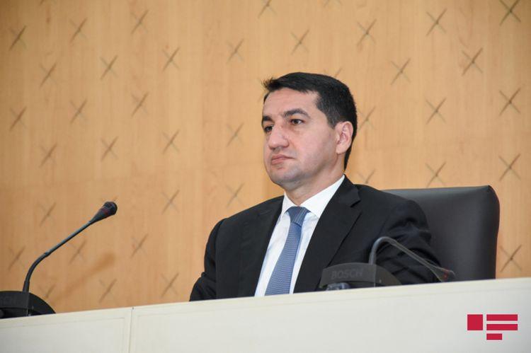 """Hikmət Hacıyev: """"Ermənistan ordusu tərəfindən qəsdən Şuşa meşələrində yanğın törədilir"""""""