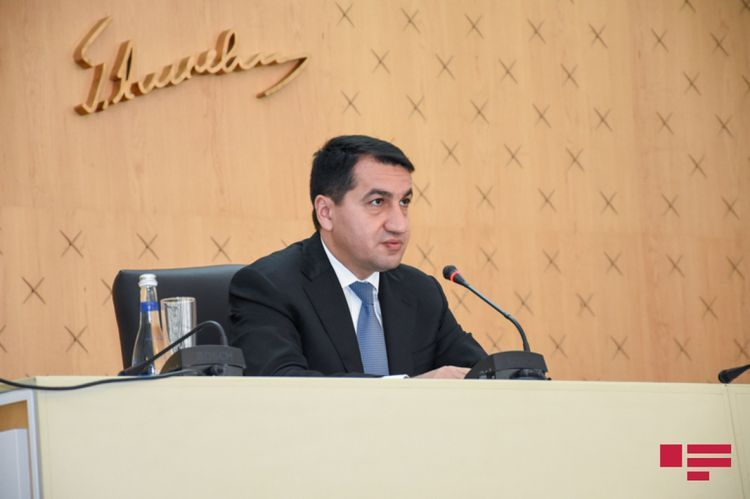 """Hikmat Hajiyev: """"Positions of Azerbaijani Army are constantly fired at from Armenia's territory"""""""
