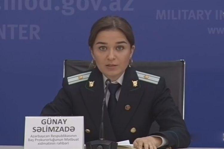 Генпрокуратура: Создаются соответствующие комиссии для установления суммы ущерба, нанесенного Арменией