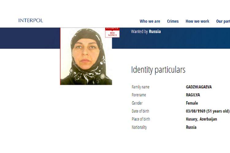 Rusiya terror təşkilatının fəaliyyətində iştirak edən Azərbaycan əsilli qadını İnterpol xətti ilə axtarır