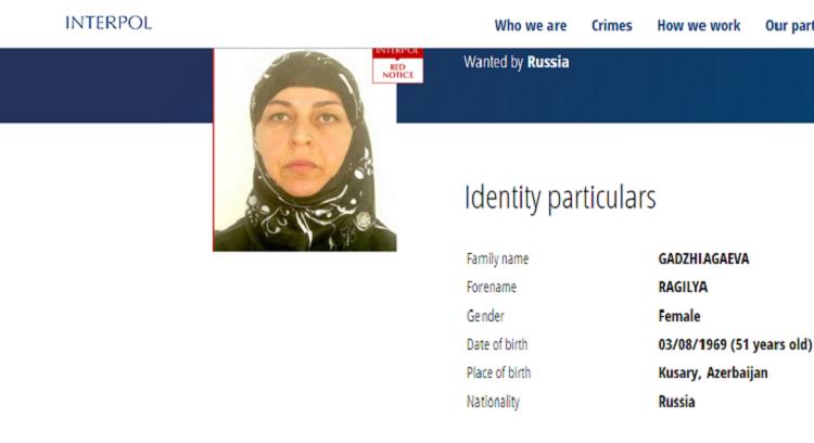 Russia searches through Interpol for woman of Azerbaijani origin taking part in activity of terrorist organization