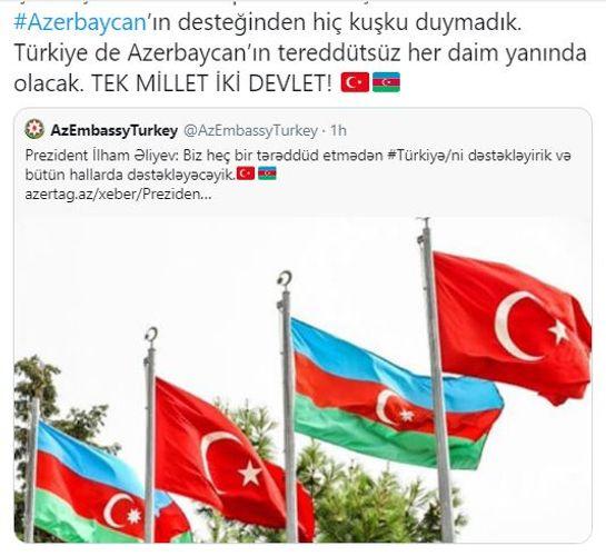 Turkish Foreign Minister expresses gratitude to Azerbaijani President Ilham Aliyev