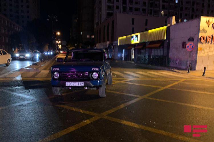 Bakıda iki avtomobil toqquşub - <span class='red_color'>FOTO</span>