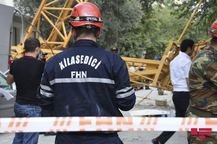 FHN: Kran aşan əraziyə nazirliyin müvafiq qüvvələri cəlb olunub