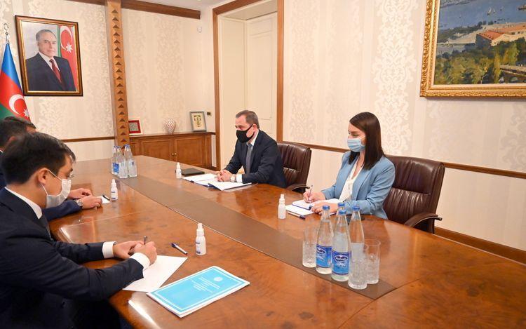 Azerbaijani FM meets with Kazakhstan's ambassador - <span class='red_color'>PHOTO</span>