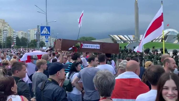 Belarusian Interior Ministry says 41 protesters were detained on Friday
