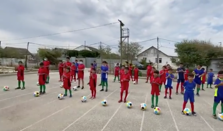 Football uniforms to the IDP school children from Khojaly, Khankendi and Shusha presented