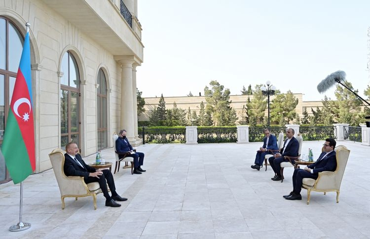 """President Ilham Aliyev: """"Azerbaijan-Iran bilateral relations are developing fast and have reached a high level"""""""