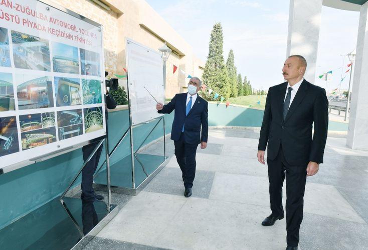Президент Ильхам Алиев принял участие в открытии надземного пешеходного перехода в Баку - <span class='red_color'>ОБНОВЛЕНО</span>