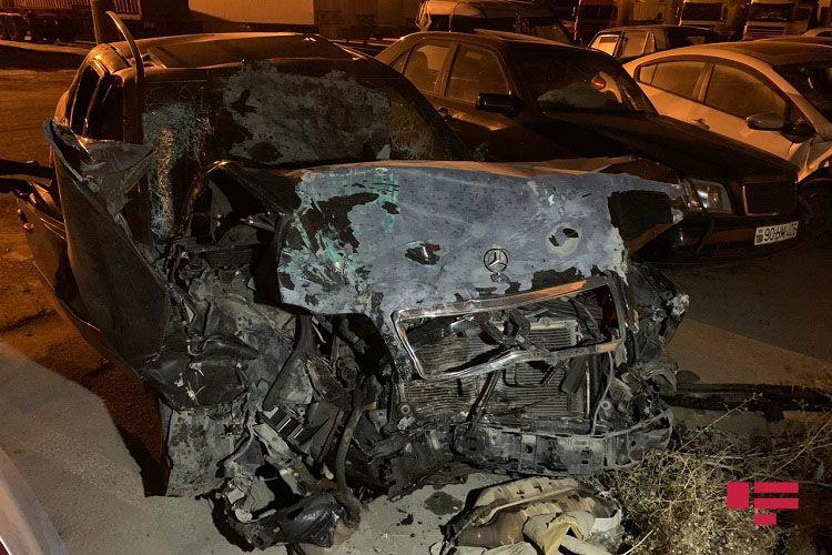 Abşeronda baş vermiş qəzada yaralananlardan biri ölüb - FOTO - YENİLƏNİB 1
