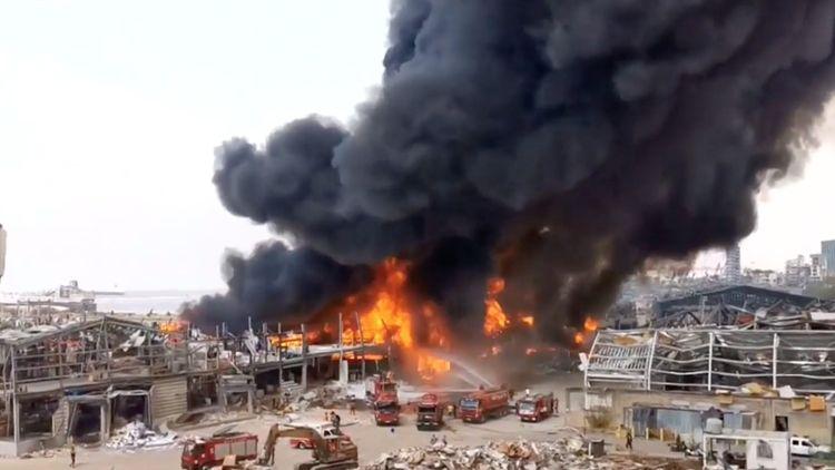 Fire erupts in Beirut Port area a month after devastating explosion