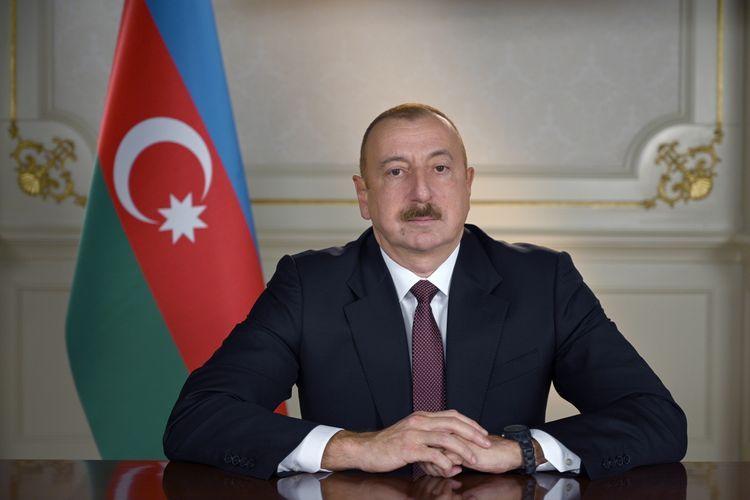 President Ilham Aliyev congratulates President of the International Association of Children`s Funds Albert Likhanov