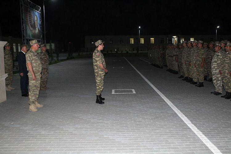 Hikmat Hajiyev and Kerim Veliyev visit military units stationed in the frontline zone