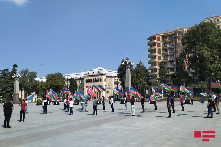 Joint flights of Air Forces of Azerbaijan and Turkey being carried out over the Ganja city - <span class='red_color'>UPDATED</span> - <span class='red_color'>PHOTO</span>