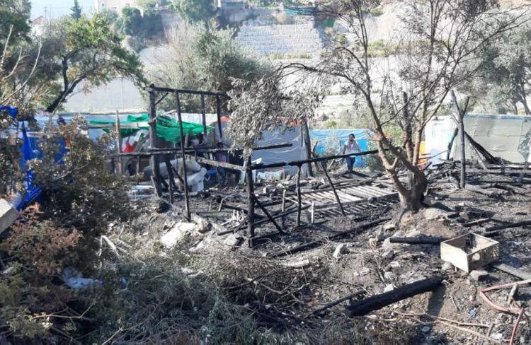 Fire breaks out near Greece
