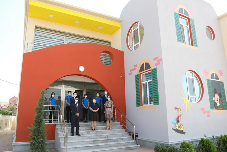 Xəzər rayonunda inşa edilmiş uşaq bağçalarının açılışı olub