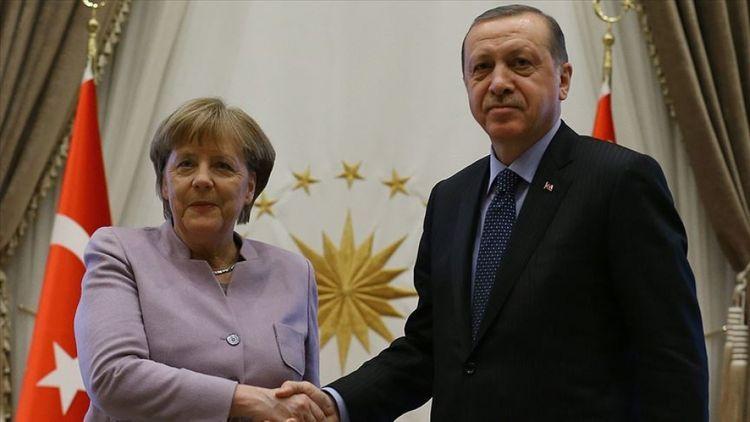 Ərdoğanın Merkellə videokonfrans formatında görüşü olub