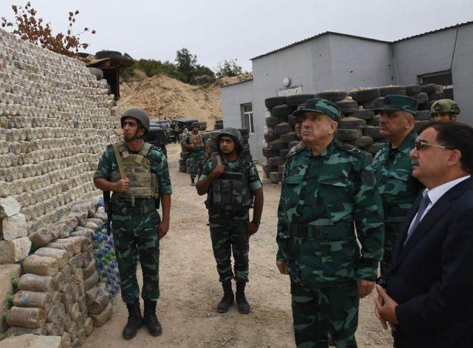 Maharram Aliyev and Elchin Guliyev visits military units and divisions of the