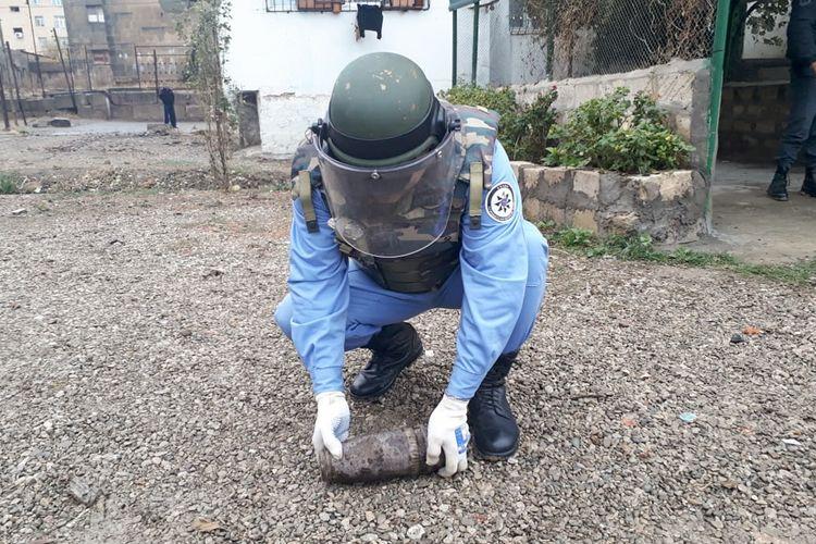Bakının Nərimanov rayonunda top mərmisi aşkar olunub
