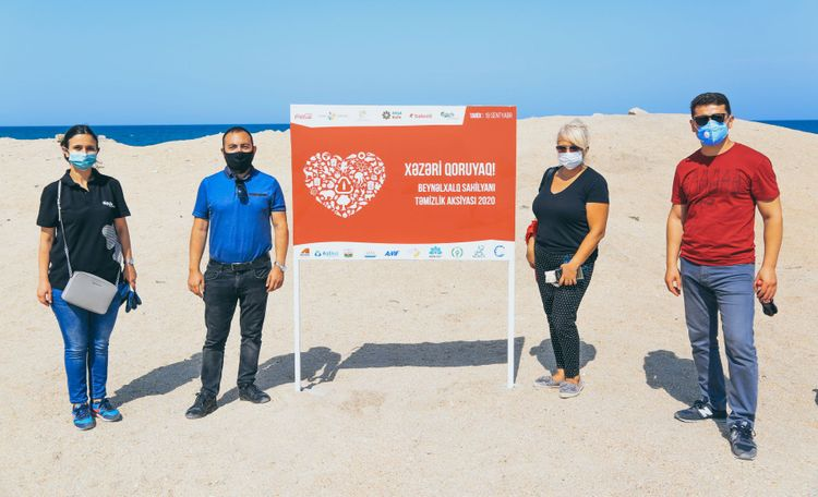 Environmental campaign held at the beaches of Baku under the motto of