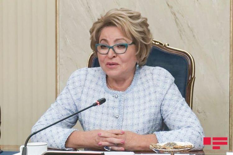 Матвиенко: Мы довольны сотрудничеством России с Азербайджаном на международной арене