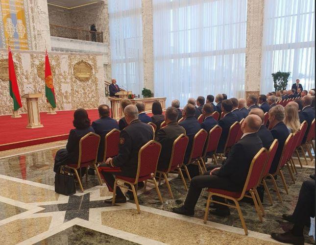Aleksandr Lukaşenkonun andiçmə mərasimi keçirilib