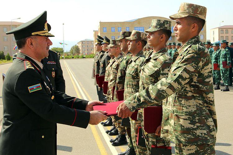 Naxçıvan Qarnizonu Qoşunlarında təşkil edilən kurslar başa çatıb - <span class='red_color'>VİDEO</span>